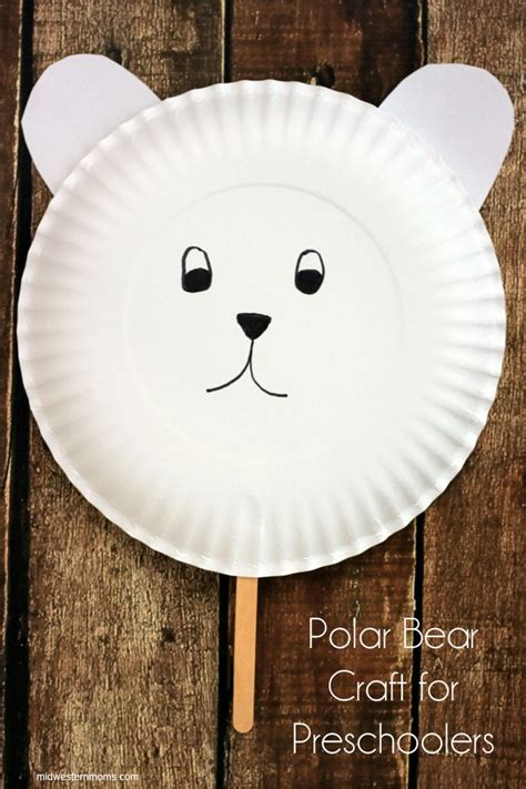 polar paper plate craft polar craft for preschoolers