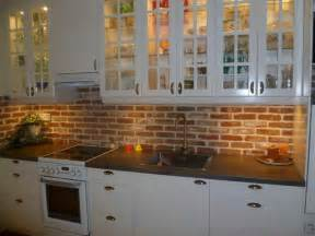 Kitchen Brick Backsplash by Faux Brick Backsplash Kitchen Custom Plaster Brick