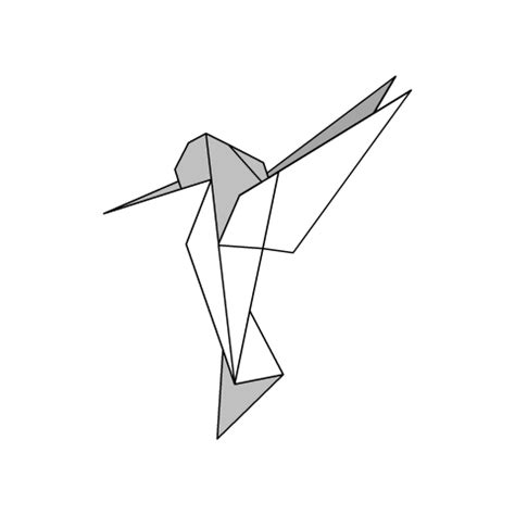 Origami Bird Drawing - origami diagram humming bird origami