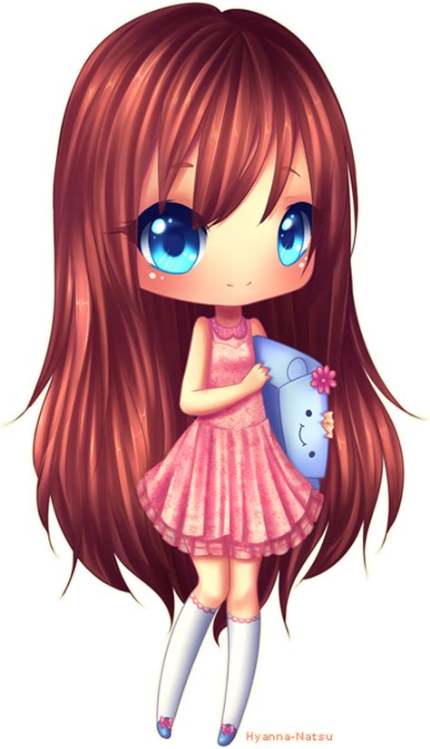 cute anime chibi girl with red hair c himono by hyanna natsu on deviantart