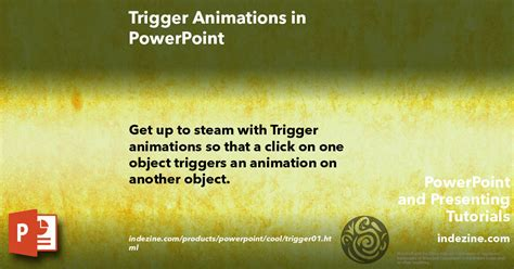 tutorial trigger powerpoint trigger animations in powerpoint