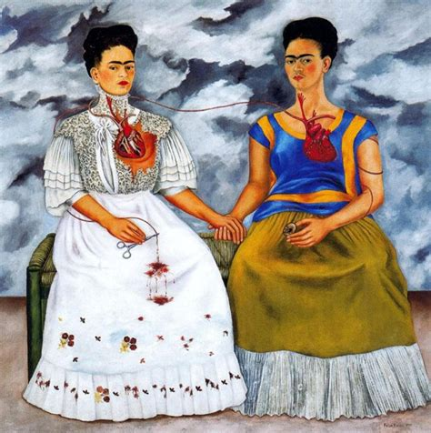 frida kahlo par frida double autoportrait frida kahlo les deux frida biographie peintre analyse histoire de l art