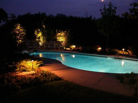 outdoor pool lighting outdoor lighting company of san diego nitelites glows at