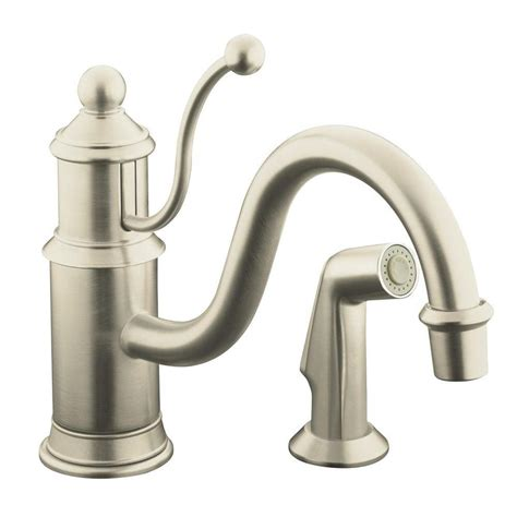 kohler k 169 bn antique single handle side sprayer kitchen