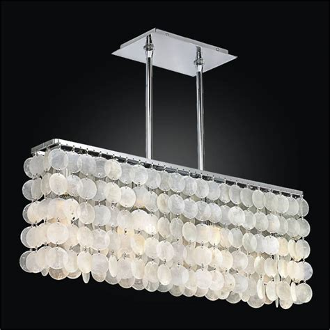 Capiz Chandelier Rectangular Rectangular Capiz Shell Chandelier Surfside 637
