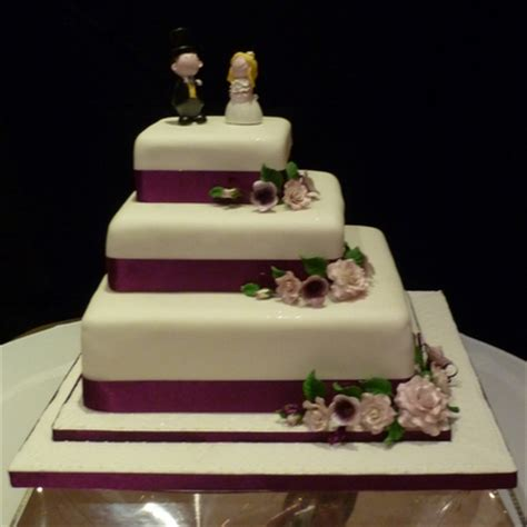 Square Wedding Cake by Purple Square Wedding Cake Supercakes Diane Fry