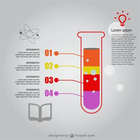 science template science infographic template vector free