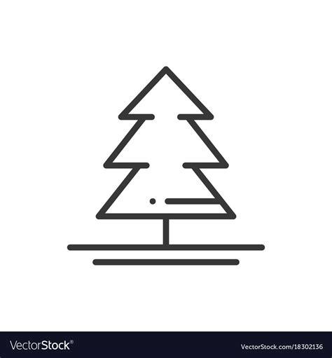 christmas tree text symbol tree tree text symbol thin line icon spruce fir new vector tree