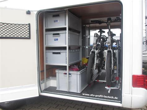 gestell garage aluprofiltechnik regalsystem fuer heckgarage staukammer