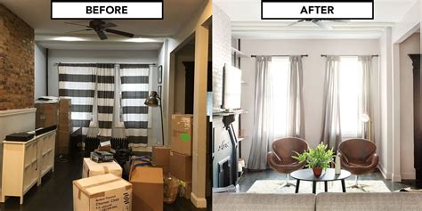 before and after home makeover home makeover for a brooklyn house living room design