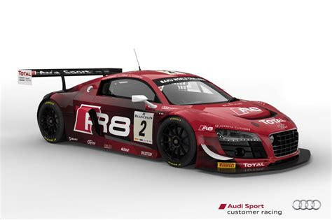 Race Car L by Seven Audi R8 Lms Ultra Race Cars To Tackle 2013 Spa 24 Hours