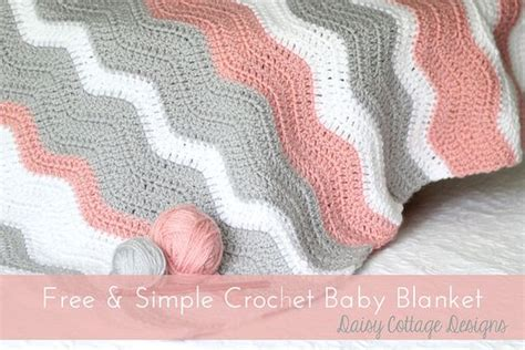 free easy ripple crochet baby blanket pattern my crochet free crochet pattern ripple baby blanket daisy cottage