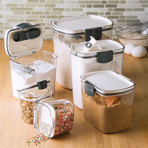 food canisters kitchen 2018 prokeeper baker s storage set of 6 the container store
