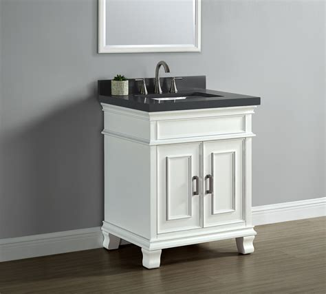 middleton 28 quot single sink vanity white mission