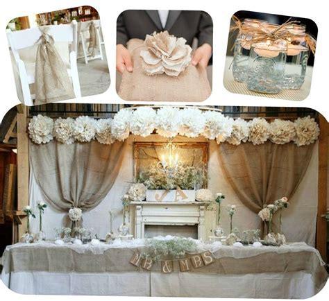burlap and lace   Wedding ideas   Pinterest