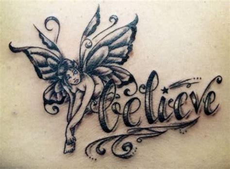 gothic fairy tattoos believe