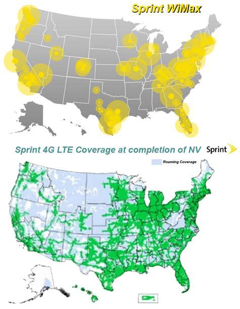 sprint 4g map sprint 4g lte network images