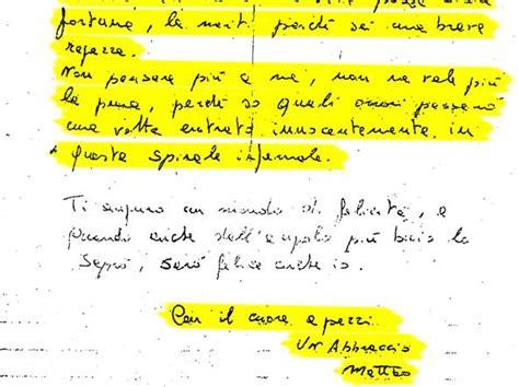 lettere per la fidanzata matteo messina denaro il delle stragi e la fidanzata