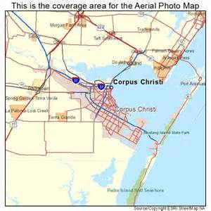 aerial photography map of corpus christi tx