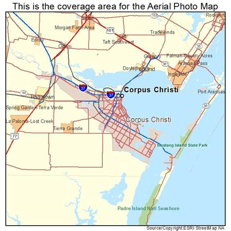 corpus christi texas map aerial photography map of corpus christi tx texas