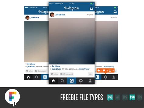 instagram layout vector free download instagram the most complete ui kit you always wanted