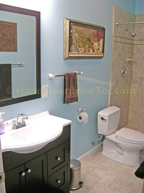 finished bathroom ideas how to finish a basement bathroom the complete series