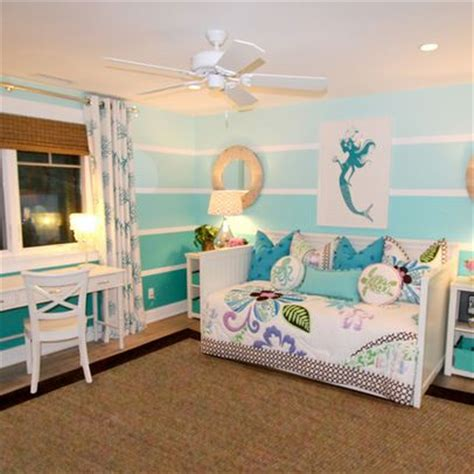 mermaid bedroom decor ombre wall paint design ideas pictures remodel and
