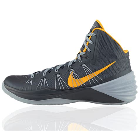 hyperdunk basketball shoes nike hyperdunk 2013 lunar grey blue yellow basketball