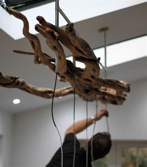 Chandelier: Unique Work Of Art With Driftwood Chandelier