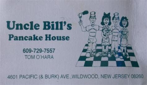 Bill S Pancake House by Business Card Picture Of Bill S Pancake House