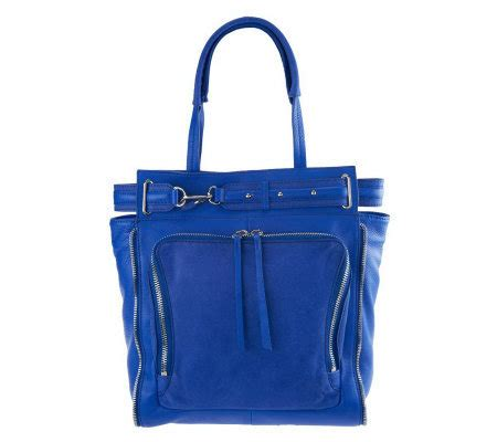 Theory Buckle Detail Tote by Kelsi Dagger Draco Leather South Tote With Buckle