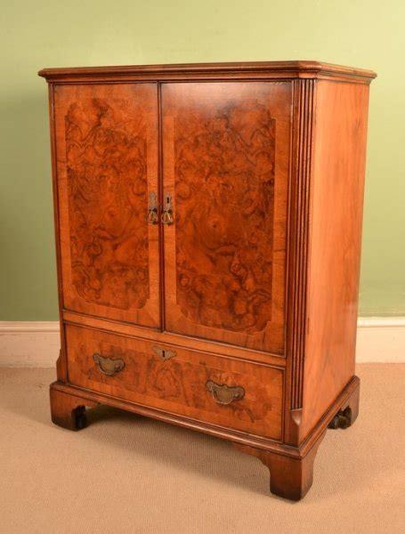 vintage tv stereo cabinet vintage burr walnut tv plasma hi fi stereo cabinet ref