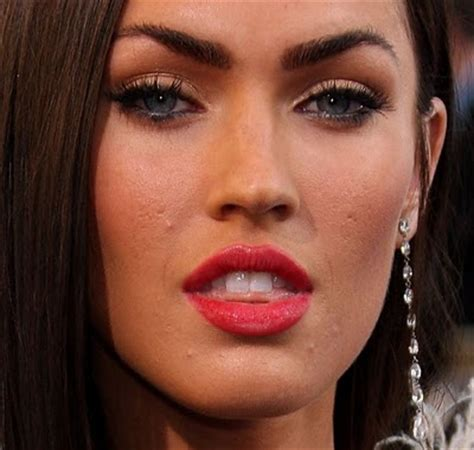 megan foxs makeup how to get her skin bold lip exact look celebrities who battle acne problems the artistic soul