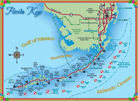 map of the united states with key map of the florida keys united states america travel