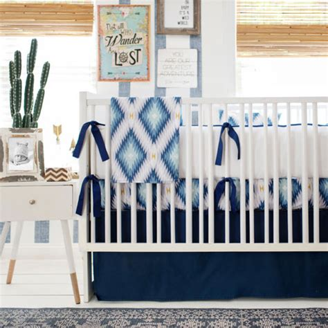 blue baby crib bedding boy aztec crib bedding tribal baby bedding boy crib