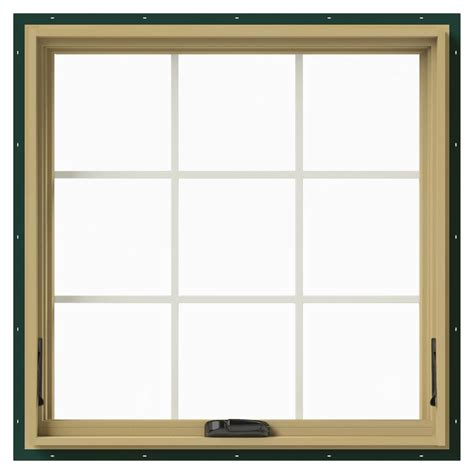 Jeld Wen Aluminum Clad Wood Windows Decor Jeld Wen 36 In X 36 In W 2500 Awning Aluminum Clad Wood Window Thdjw143300167 The Home Depot