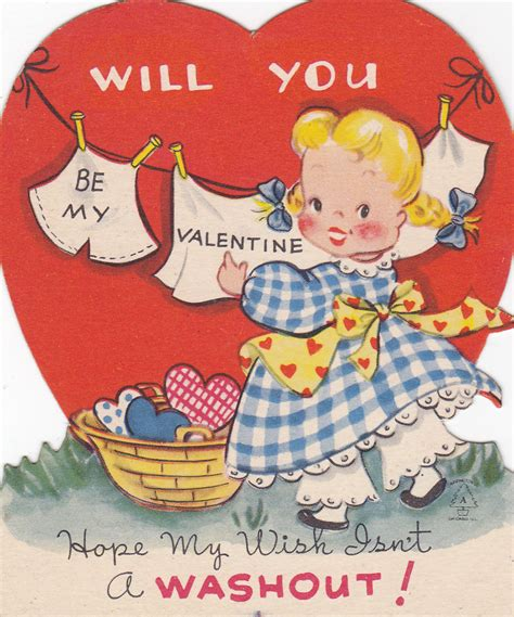 vintage cards on vintage valentines