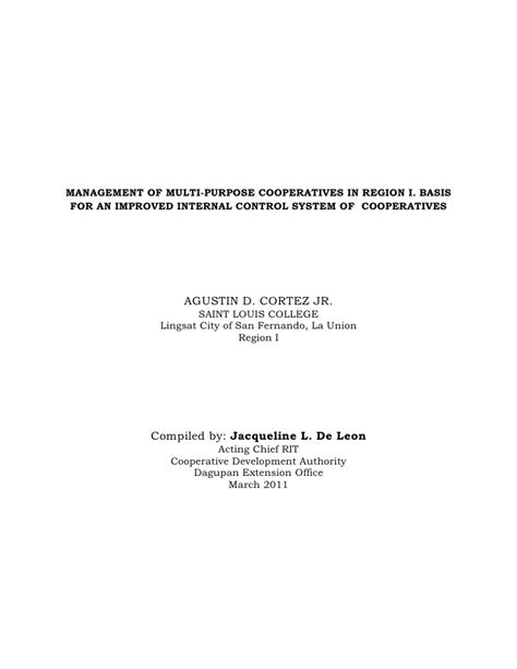 thesis abstract about management dissertation abstract quot management of multi purpose