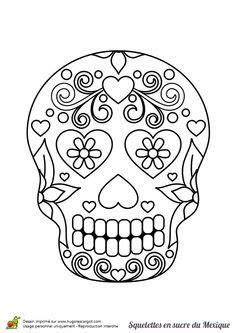 A Colorier T 234 Te De Mort En Sucre Joliment D 233 Cor 233 E De A Colorier Tete De Mort En Sucre Joliment Decoree De Fleurs Et De Coeurs L