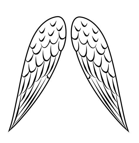 Bird Wings Outline by Wings Outline Clipart Best