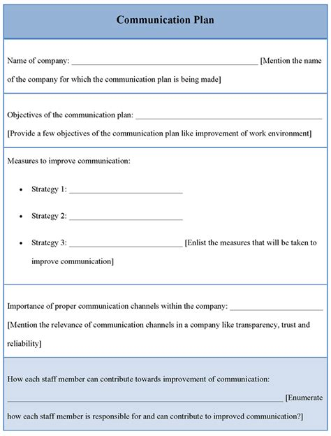 communication plan communication plan pdf