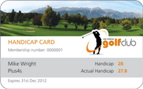 golf membership card template golf handicap card my golf club