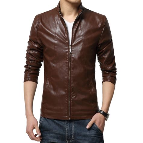 New Leather by 2016 New Fashion Mens Leather Jackets And Coats Slim