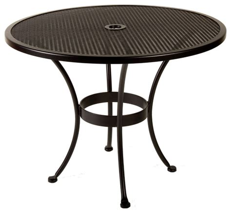 Bistro Table With Umbrella by Bistro 36 Quot Rd Mesh Dining Table With 2 Quot Umbrella