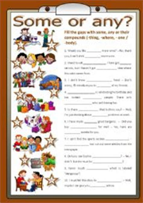 esl some and any worksheets teaching worksheets some any