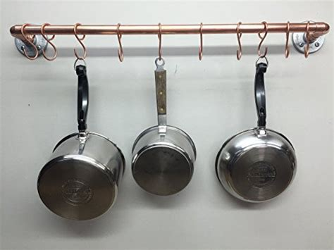 ceiling mounted pot and pan rack wall or ceiling mounted copper pot pan rack image 05