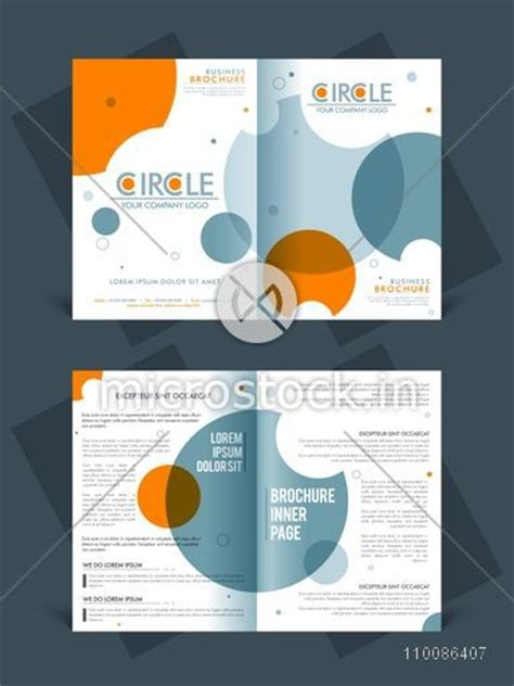 two page brochure template or flyer layout for business
