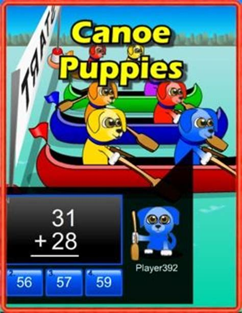 canoe puppies canoe puppies is a multi player racing that allows students from anywhere in the