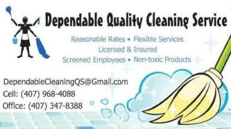 cleaning service business card template quit your day