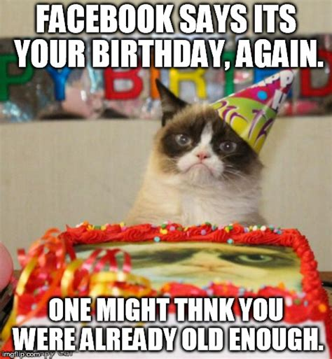 Grumpy Cat Happy Birthday Meme - grumpy cat birthday meme imgflip